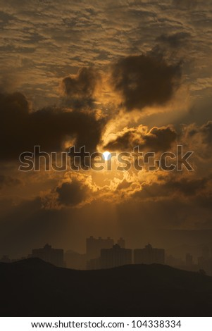 Hong Kong City at Sunrise