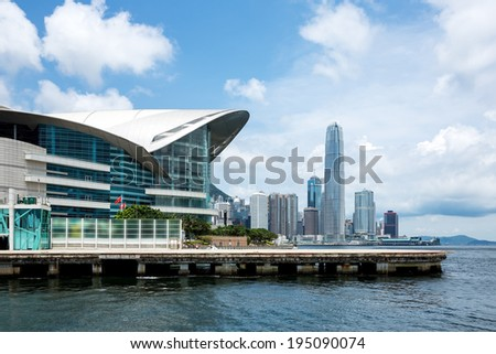 Hong Kong Convention and Exhibition Centre - stock photo
