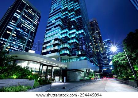 Hong Kong corporate building - stock photo