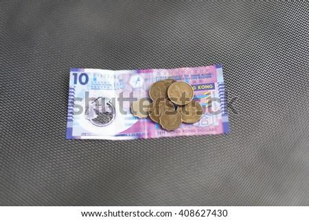 Hong Kong dollars, currency - stock photo