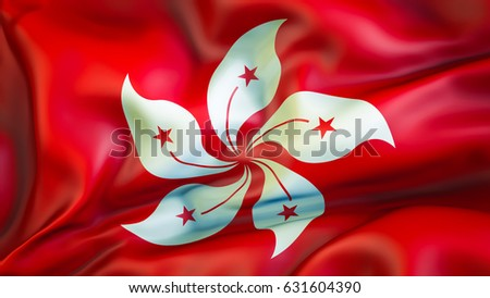 Hong kong flag 3 d waving flag stock illustration 631604390 hong kong flag 3d waving flag design red and white flage national mightylinksfo