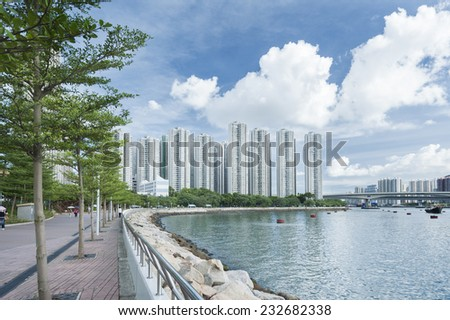 Hong Kong Harbor - stock photo