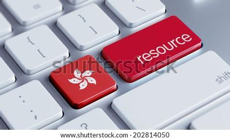 Hong Kong High Resolution Resource Concept - stock photo