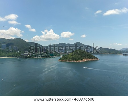 Hong Kong Island and the beautiful sky beautiful seaside
