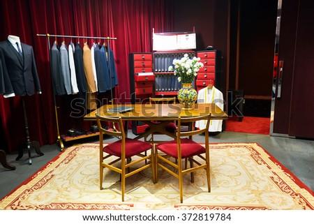 Comfortable Room Furniture Floor Lamp Near Stock Illustration