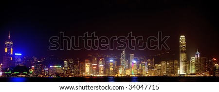 HONG KONG - JULY 16: Night view of Hong Kong July 16, 2009 in Hong Kong. Hong Kong shares rose 0.6 percent in a third session of gains, with investors cheered by signs of a turnaround in key economies