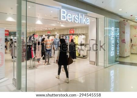 HONG KONG - JUNE 11: BERSHKA Fashion Store on JUNE 11, 2015 in Hong Kong. - stock photo