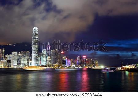 Hong Kong night - stock photo