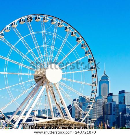 Hong Kong Observation Wheel - stock photo