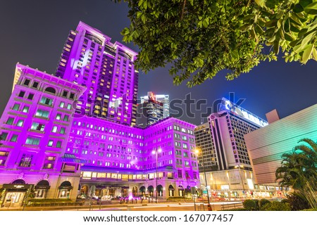 HONG KONG - OCTOBER 15: Exterior of the Peninsula Hotel October 15, 2012 in Hong Kong, China. The hotel is the flagship property of the The Peninsula Hotels group founded in 1928.