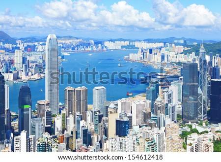 Hong Kong skyline - stock photo