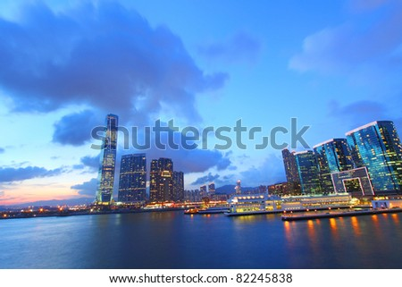 Hong Kong skyline at Kowloon district