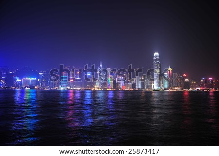 Hong Kong skyline from the Avenue of Stars