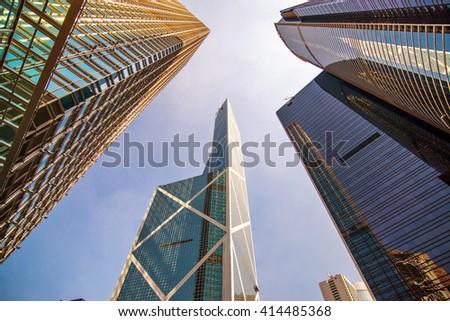 Hong Kong Skyscraper of Bank of china building - stock photo