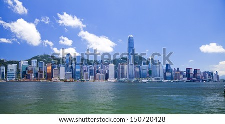 Hong Kong Victoria Harbour - stock photo