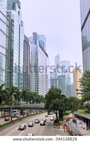 HONGKONG, CHINA - OCTOBER 25: Hongkong street view on October 25, 2015 in Hongkong city. Hongkong is a developing city and famous tourism destination in South of China.
