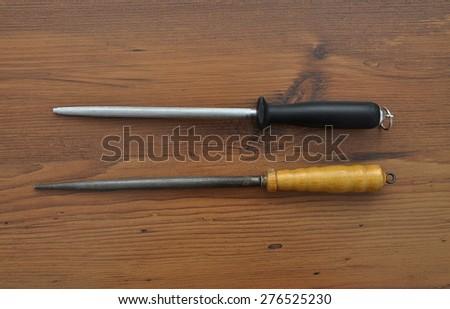 Honing steel - stock photo