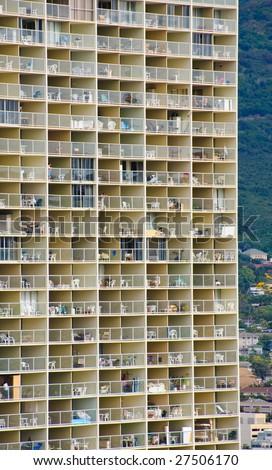 Honolulu building - stock photo