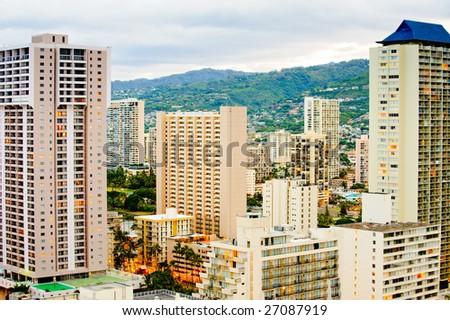 Honolulu downtown - stock photo