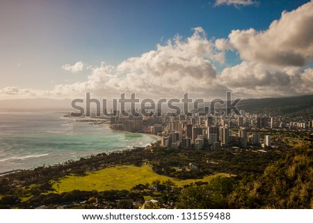 Honolulu Hawaii City Shot