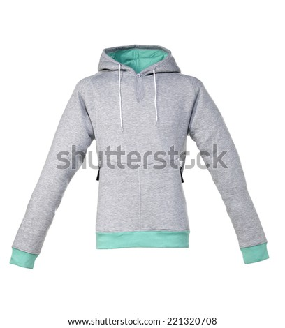 Hooded Sweater Gray Mint