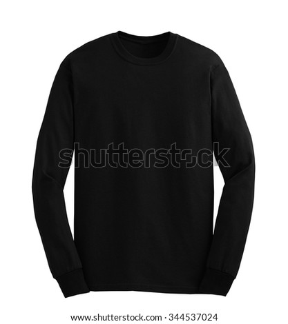 Hooded sweater isolated on white - stock photo