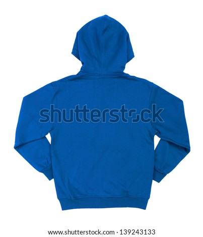Hooded sweater isolated on white background
