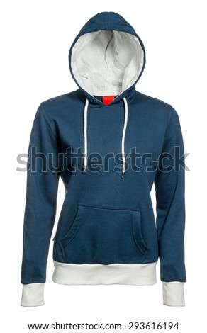 hooded sweatshirt on a white background - stock photo