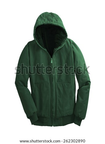 hoodie isolated on white - stock photo