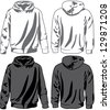 Hoodies. Raster version, vector file available in portfolio. - stock photo