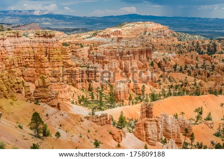 hoodoos in Bryce Amphitheater, Bryce Canyon National Park, Utah - stock photo