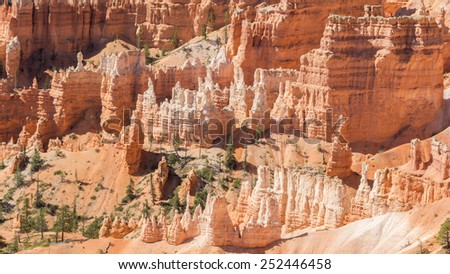 Hoodoos of Bryce Canyon national park - stock photo