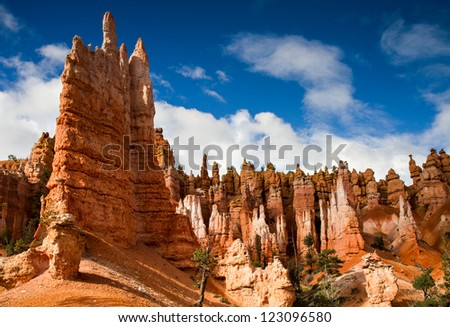 Hoodos of Queens Stone Garden, Bryce Canyon National Park, Utah - stock photo