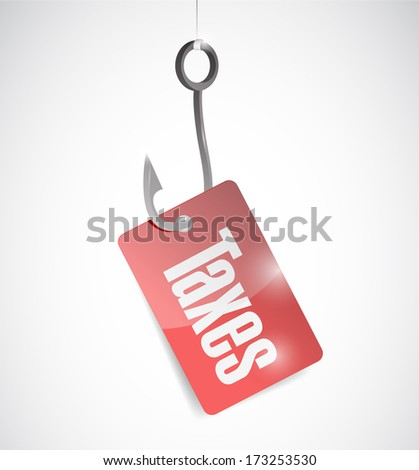 hook and taxes illustration design over a white background - stock photo