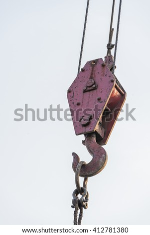 Hook crane on a white background - stock photo