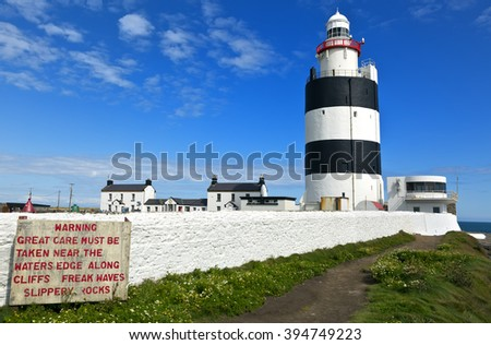 Hook Lighthouse at Hook Head, County Wexford, Ireland.