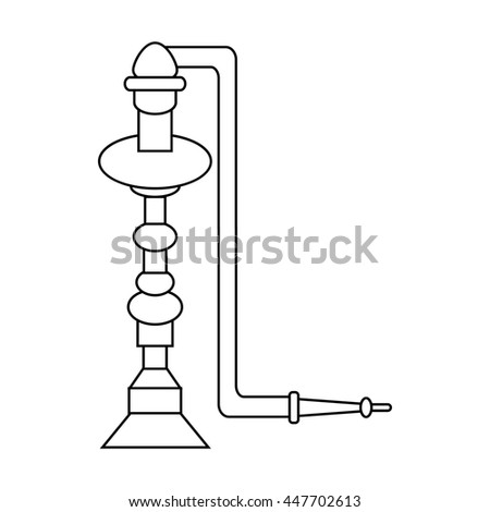 Hookah icon in outline style on a white background