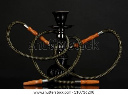 hookah isolated on black background - stock photo