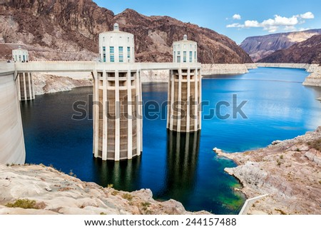 Hoover Dam view - stock photo