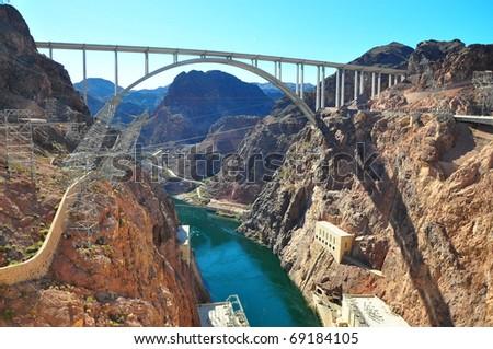 Hoover Dam West Coast of America - stock photo