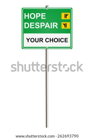 Hope. Road sign. Raster. - stock photo