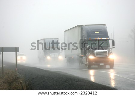 hope this fog lifts - stock photo