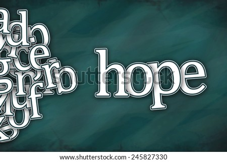hope word on green background - stock photo
