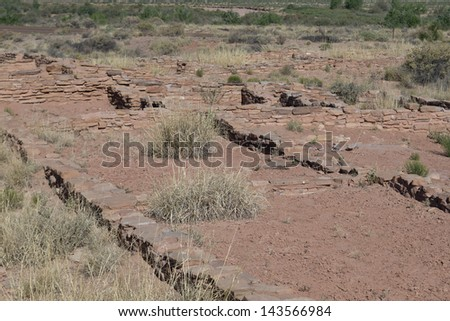 Hopi and Navajo ruins - stock photo