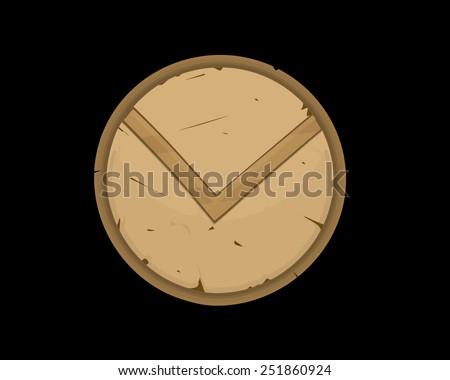 Hoplite shield illustration - stock photo