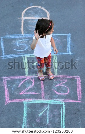Hopscotch - stock photo