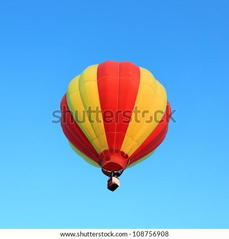 Hor air balloon in the blue sky - stock photo