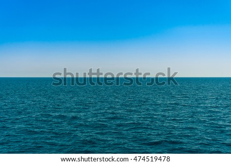 Horizon line - between sky and water