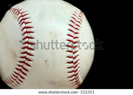 Horizontal Baseball Macro with black background