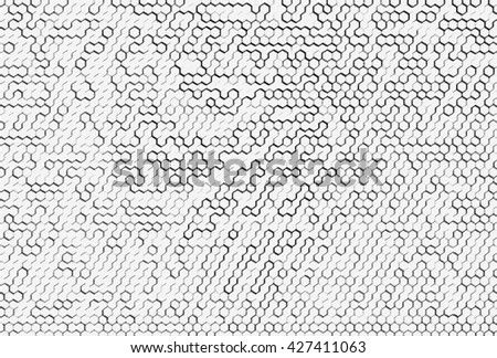 Horizontal black and white cells illustration background